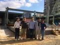 No começo da construção do Eataly SP: encontro dos sócios Luca Baffigo (Eataly Internacional), Victor Leal (St Marche), Alex Saper (Eataly Americas), Nicola Farinetti (Eataly Internacional) e Bernardo Ouro Preto (St Marche) – Acervo pessoal